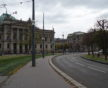 La Place de la République est encerclée de nombreux points lumineux peu espacés (Photo DL/Rue 89 Strasbourg/cc)