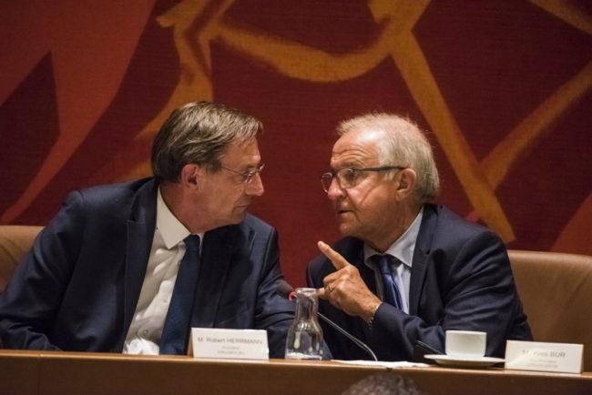 La co-gestion entre Yves Bur et Robert Herrmann s'est jusqu'ici passée sans désaccord majeur (photo Pascal Bastien)