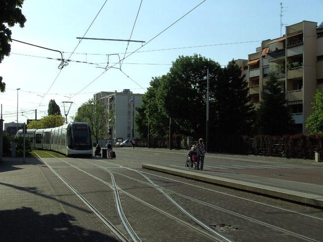 A Illkirch-Graffenstaden, on a choisi les heures d'extinction en fonction des horaires de tram (Photo wikimedia commons/cc)