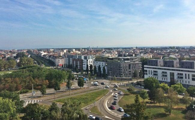 Strasbourg et son agglomération compte construire sur les espaces creux pour gagner des dizaines de milliers d'habitants (photo JFG / Rue89 Strasbourg)