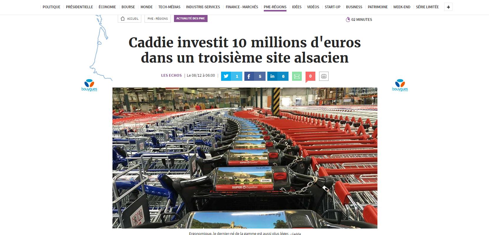 Une troisième usine Caddie en Alsace en 2017