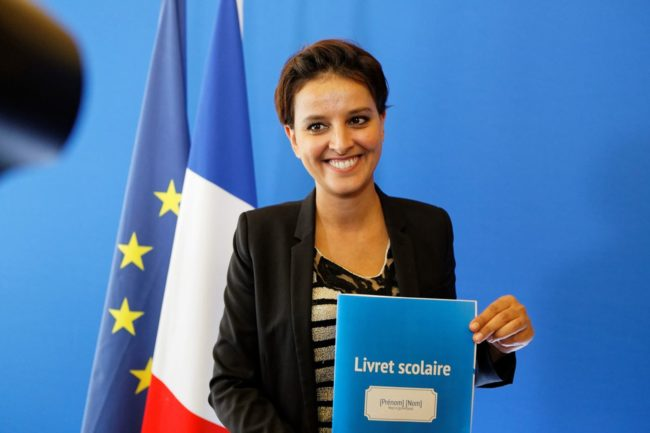La ministre de l'Éducation nationale, Najat Vallaud-Belkacem, présente le livret unique numérique (Photo Min. Education nationale)