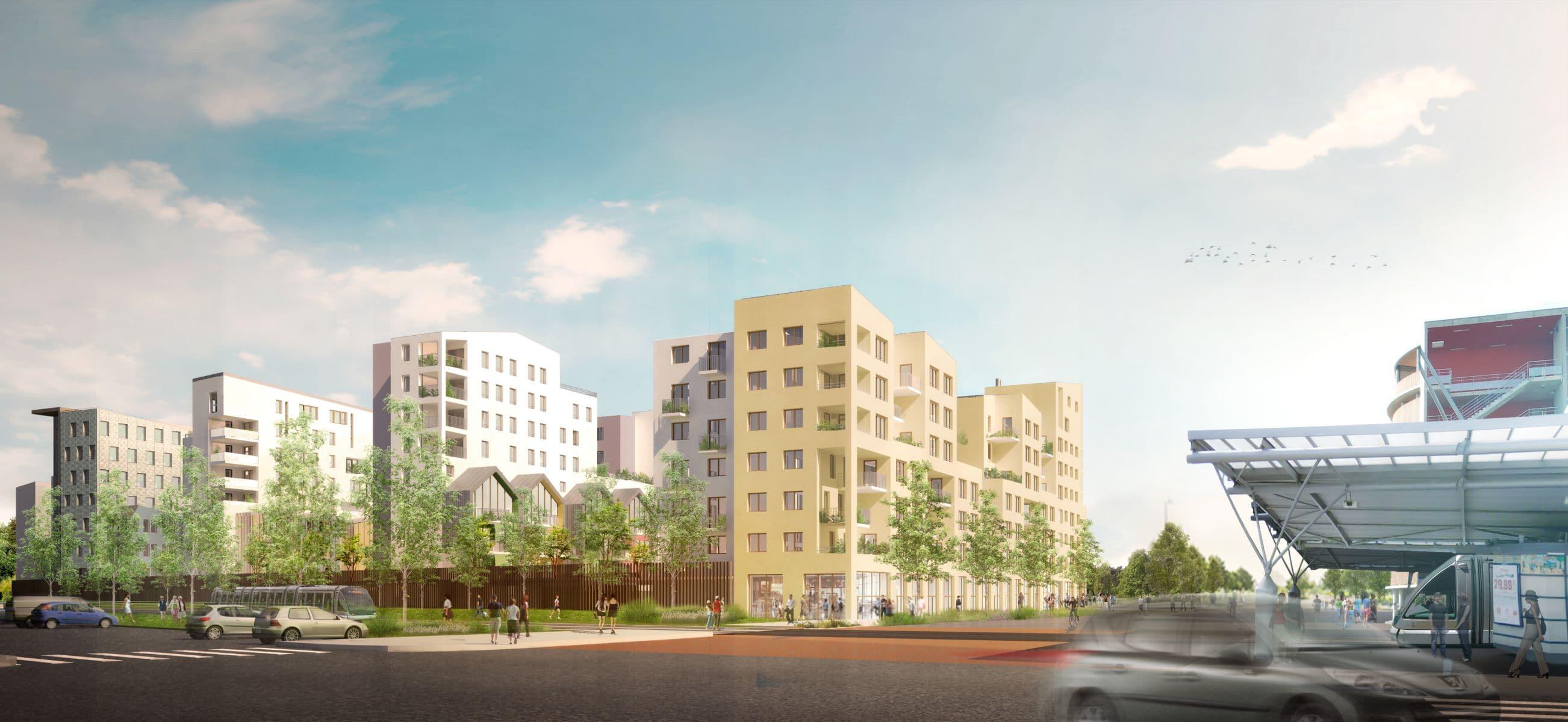 strasbourg un projet immobilier va bouleverser le quartier de cronenbourg. Black Bedroom Furniture Sets. Home Design Ideas