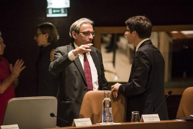 Roland Ries, maire de Strasbourg, et Nicolas Matt, conseiller communautaire (Photo Pascal Bastien)