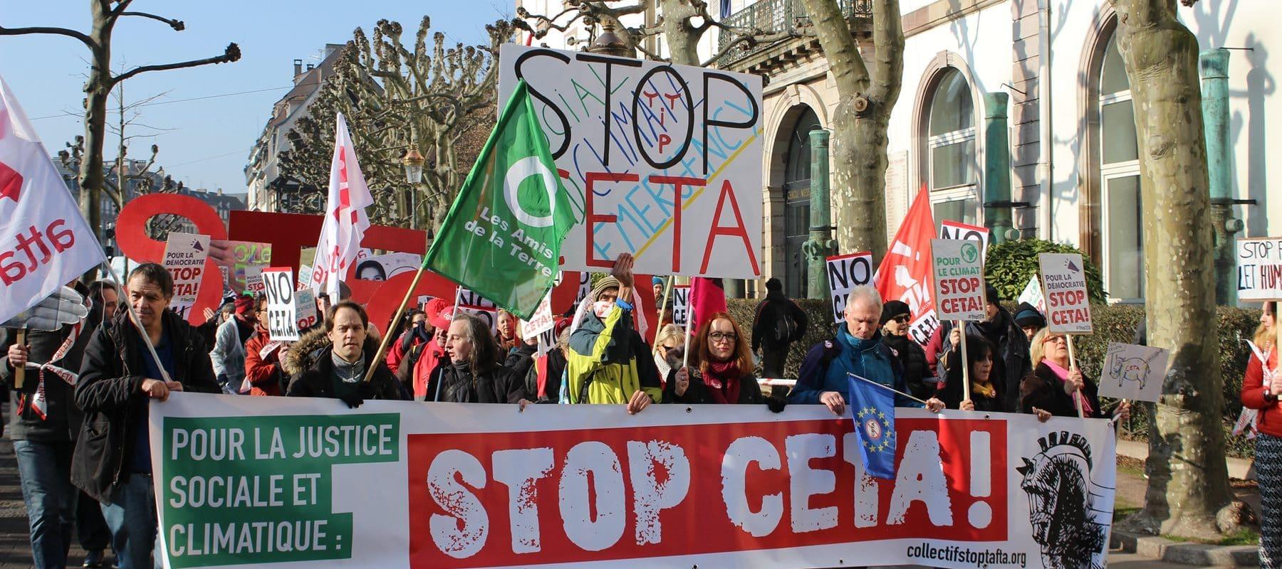 Entre 700 et 1000 personnes contre l'accord transatlantique CETA mercredi à Strasbourg