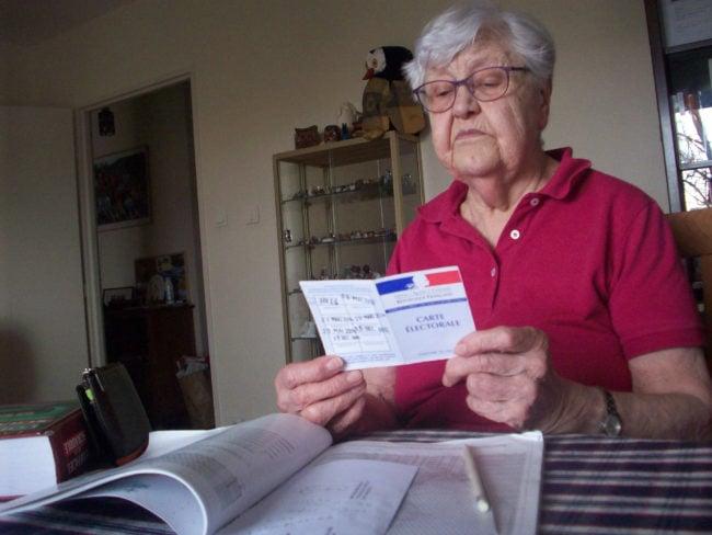 C'est la première fois que Gisèle est autant désemparée à l'occasion d'une élection (Photo DL/Rue 89 Strasbourg/cc)