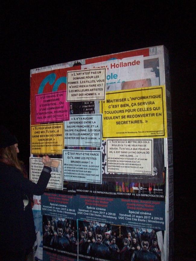 Les militantes voulaient agir avant que le campus ne se réveille (Photo DL/Rue 89 Strasbourg/cc)
