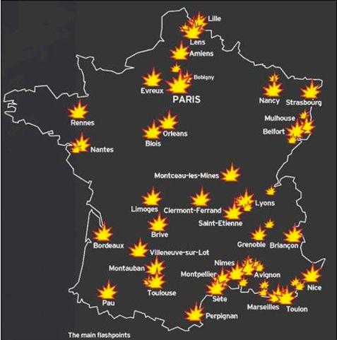 Non, il n'y pas eu d'affrontements massifs avec la police à Strasbourg début 2017