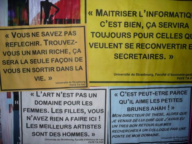 Les messages sexistes ont été tenus dans l'enceinte de l'Université de Strasbourg (Photo DL/Rue 89 Strasbourg)