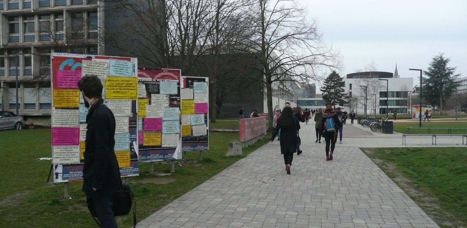 La fac placardée de messages sexistes pour la journée des droits des femmes
