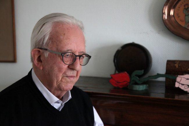 François, ancien résistant, déporté en Allemagne, ne votera pas pour Benoit Hamon (Photo Baptiste Cogitore / Rue89 Strasbourg / cc)