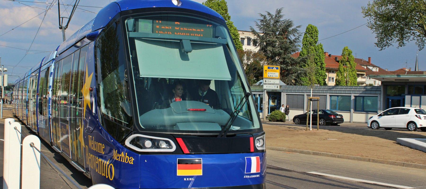 À l'inauguration du tram franco-allemand, l'Europe aux abonnés absents