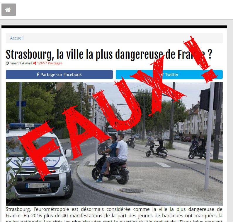 Non, Strasbourg n'est pas «la ville la plus dangereuse de France»