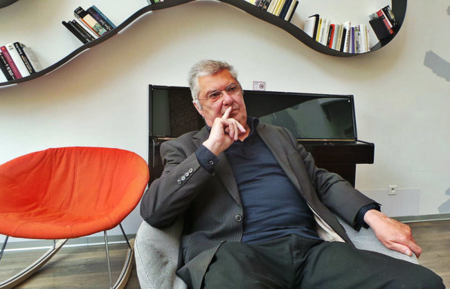 Au Ciarus dont il a été le président, Yves Zehr a conservé de solides amitiés (Photo PF / Rue89 Strasbourg / cc)