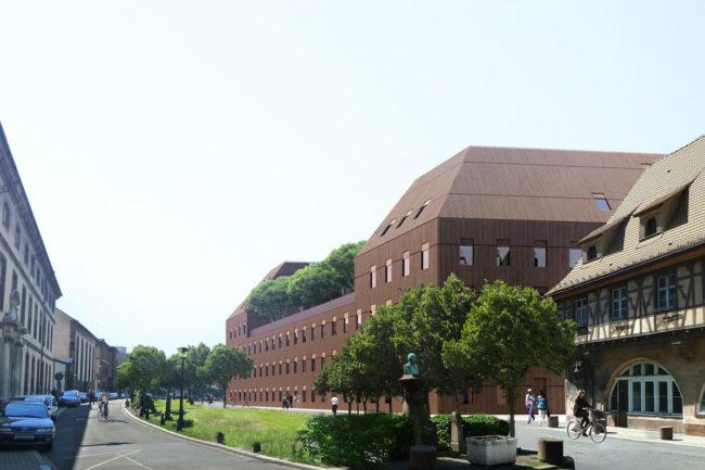 Le bâtiment doit s'insérer dans l'enceinte de l'hôpital civil (document Lipsky-Rollet)