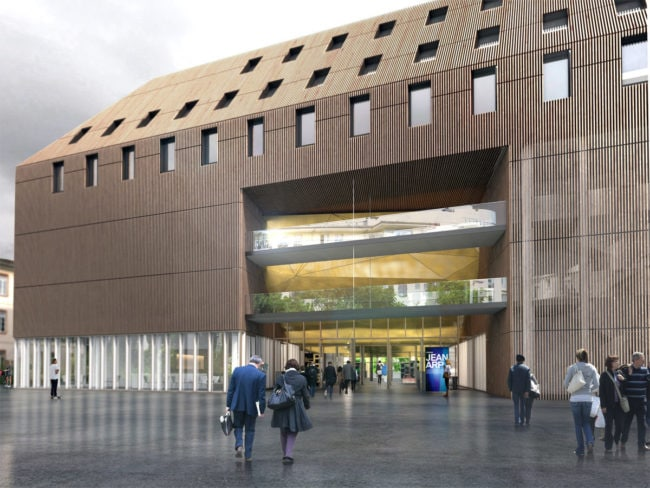 Le bâtiment est très attendu, notamment par l'IEP de Strasbourg à l'étroit dans ses locaux actuels (document Lipsky-Rollet)