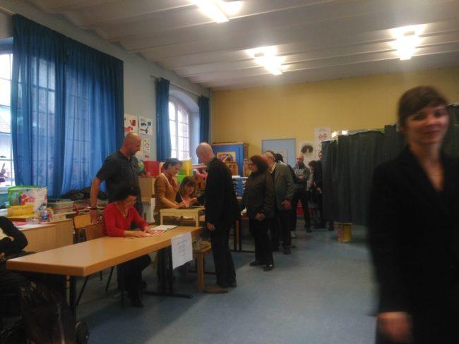 A l'école maternelle de Cronenbourg, vers 13 heures (Photo Claire Gandanger / Rue89 Strasbourg / cc)
