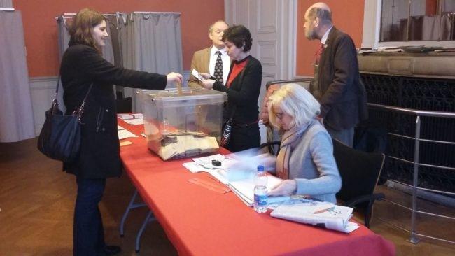 Au bureau de vote Broglie vers 13 heures (Photo Isabelle Maradan / Rue89 Strasbourg / cc)