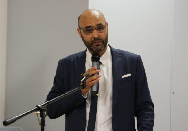 Abdelhaq Nabaoui, le 22 juin 2017, dans les locaux de Ditib Strasbourg. (crédit : CG / Rue89 Strasbourg / cc)