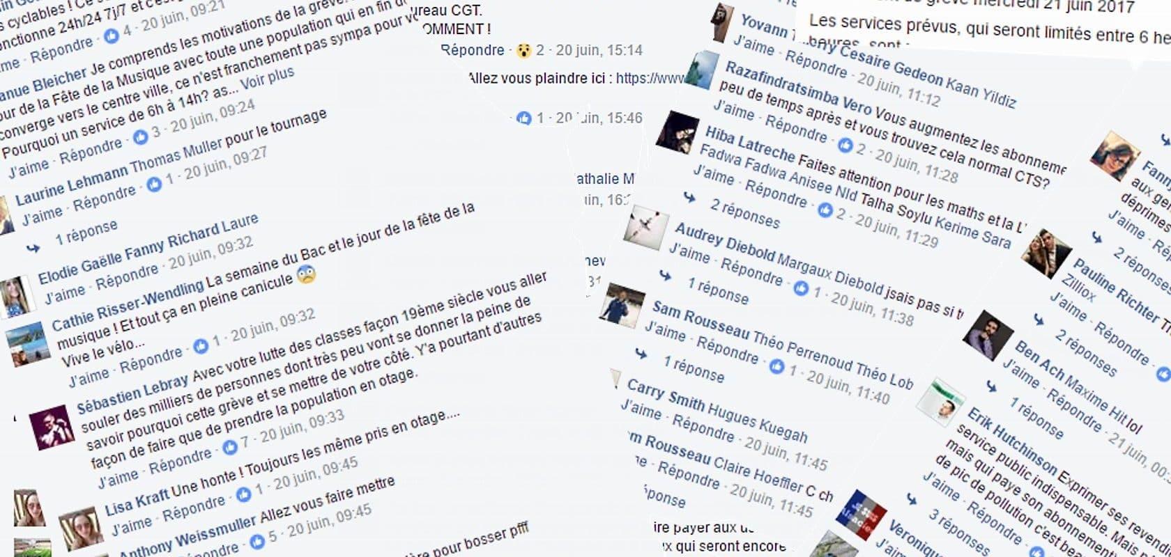 Insultée sur Facebook, la CTS demande des excuses publiques et 95€ aux auteurs