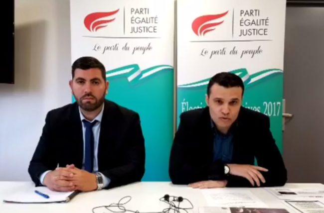 A droite, Sakir Çolak, président du PEJ (capture d'écran)