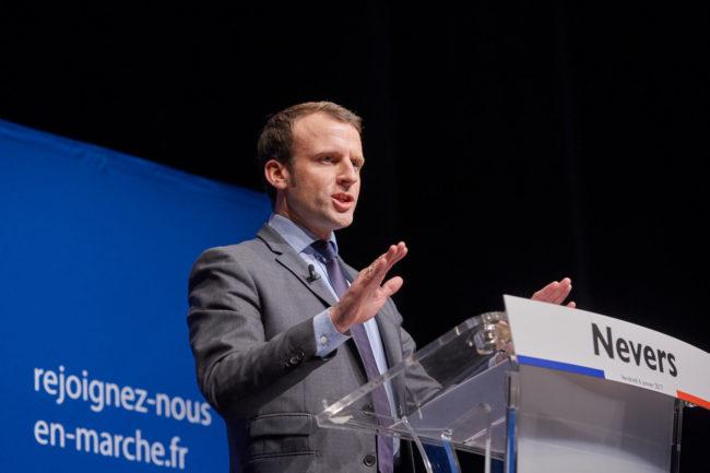 Emmanuel Macron alors qu'il était