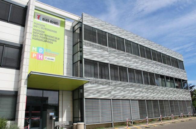 La Maison départementale des personnes handicapées est l'interlocuteur principal des demandeurs. (Photo Morgane Carlier / Rue89 Strasbourg)