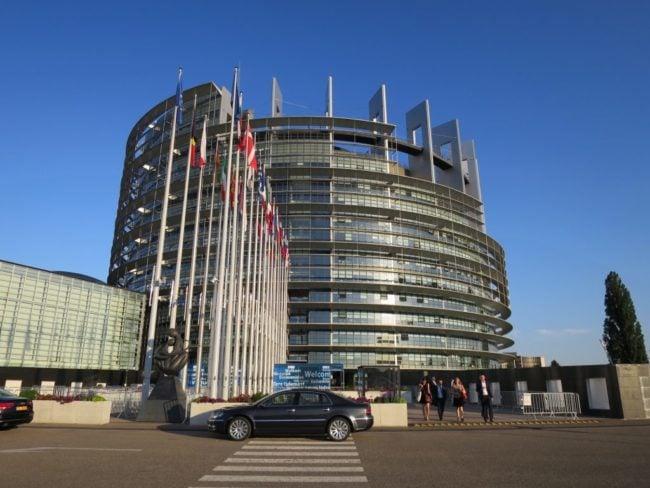 A l'agenda de cette session, un débat s'annonce houleux : mercredi, les députés se pencheront sur l'opportunité de disposer d'un siège unique. (Photo CS / Rue89 Strasbourg / cc)