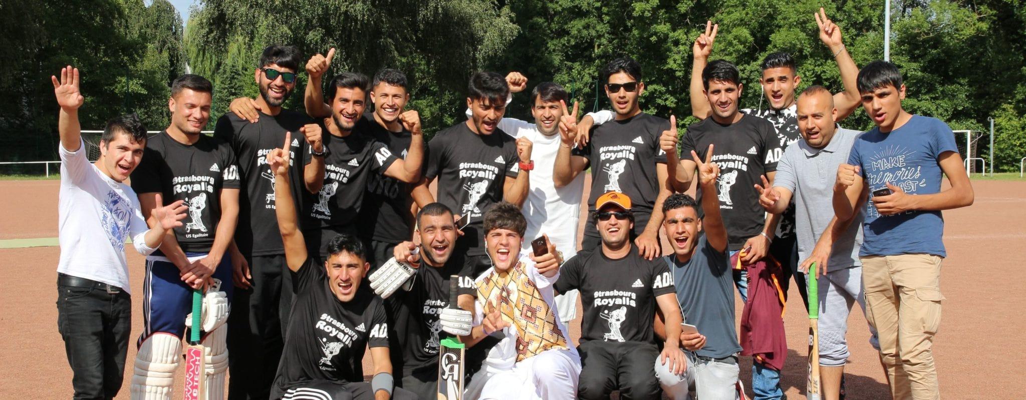 Des Afghans défendent Strasbourg au cricket