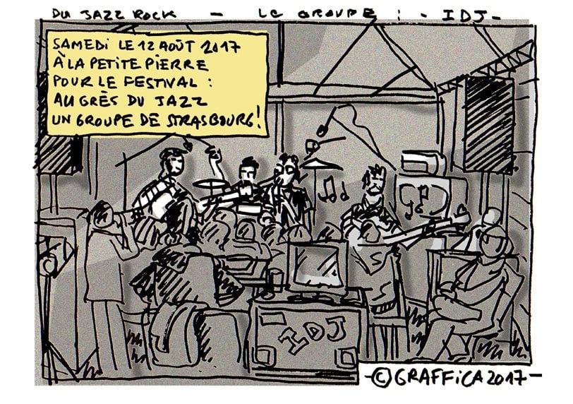 Super concert de jazz-rock par les Strasbourgeois d'IDJ à La Petite-Pierre