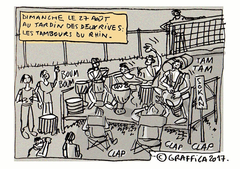 Des tambours au jardin des Deux-Rives