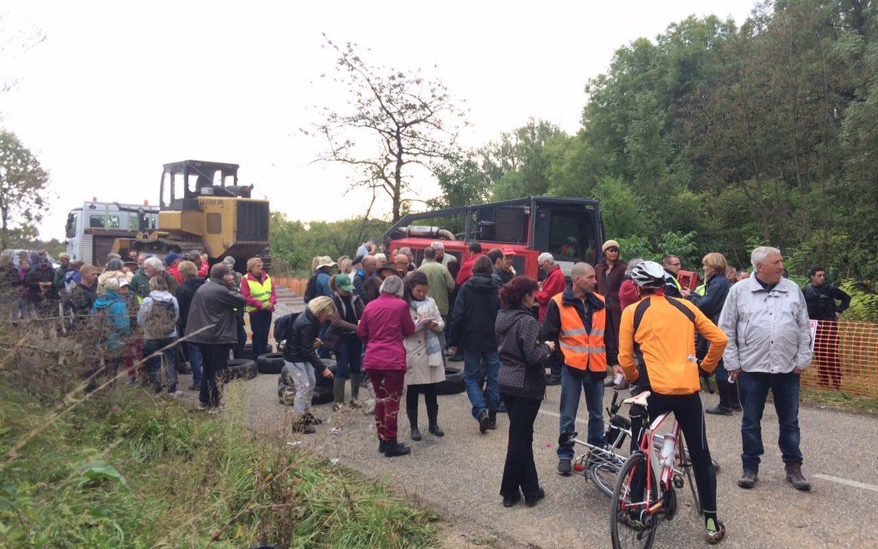 À Kolbsheim, des opposants au GCO empêchent des travaux préparatoires