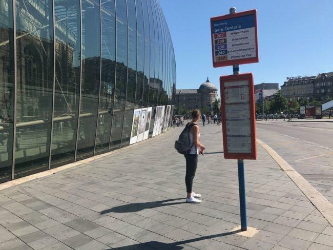 La fréquence des bus, et notamment celle des bus de la ligne G, sera abaissée mardi (Photo Moovit App)