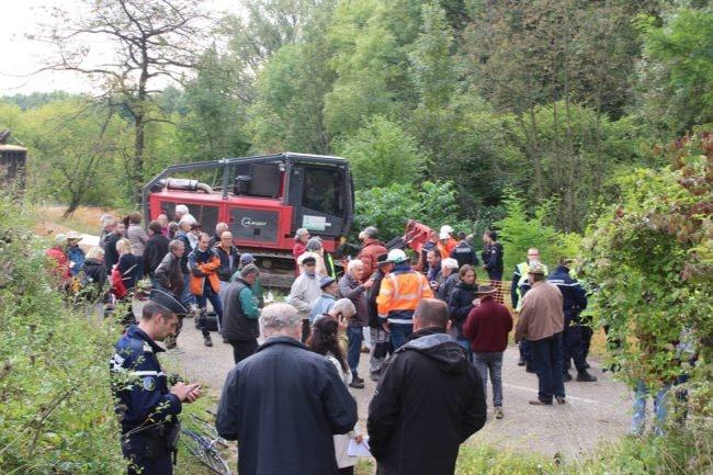 Une trentaine de gendarmes étaient présents mercredi matin. (Photo JFG / Rue89 Strasbourg / cc)