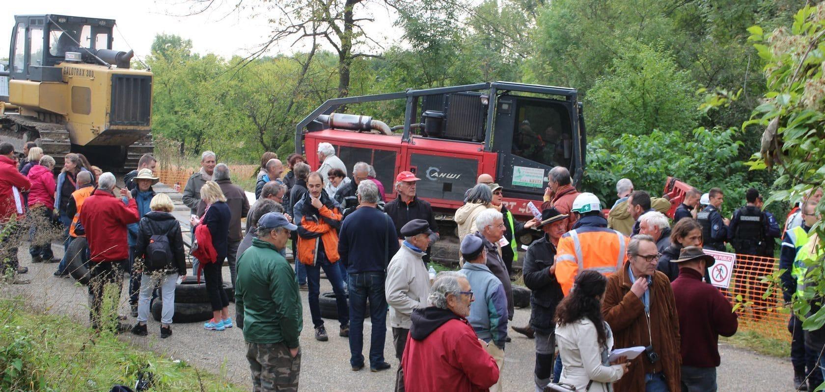 Face à face entre Vinci et opposants au GCO à Kolbsheim, les travaux préparatoires reportés