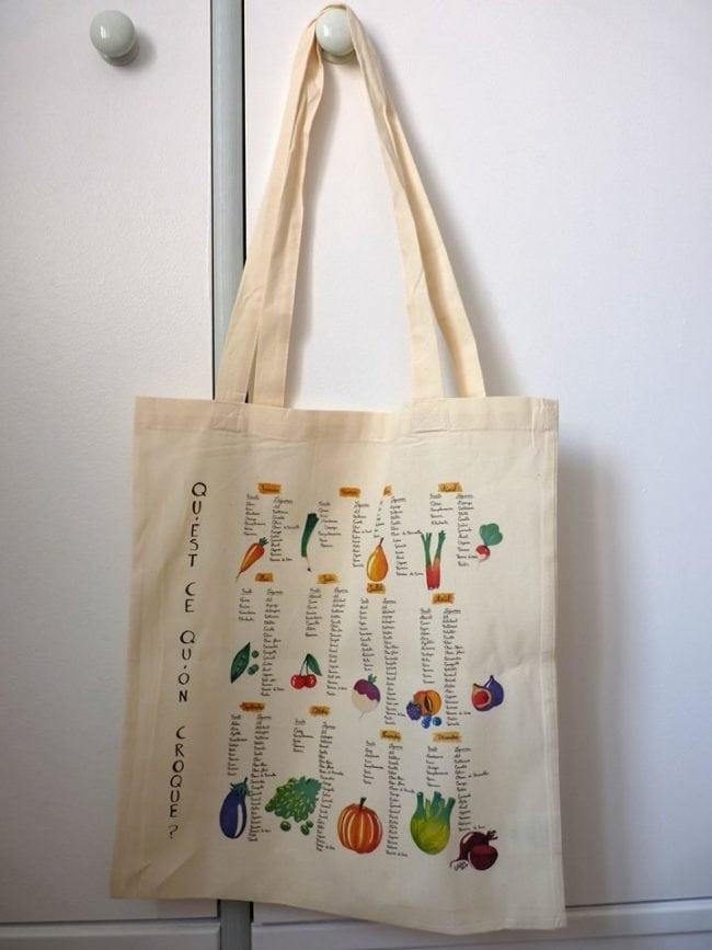 Anne Mahler diversifie ses activités et vend par exemple ce sac en coton dont elle a réalisé les illustrations (Doc remis)