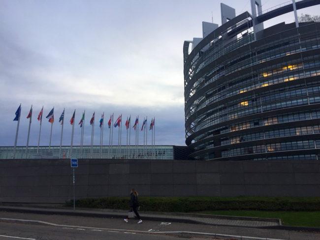 Le débat autour des cas de harcèlement sexuel au sein du Parlement européen était au coeur de nombreuses discussions cette semaine à Strasbourg (Photo CS / Rue89 Strasbourg / cc)