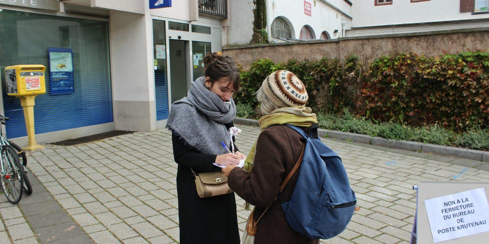 Des habitants de la Krutenau pétitionnent contre la fermeture de la Poste