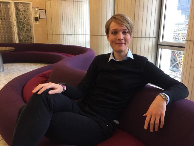C'est notamment vers Miriam-Lena Horn, chargée des problèmes de harcèlement sexuel au sein de l'«APA Committee», que les assistantes peuvent se tourner en cas de problème (Photo CS / Rue89 Strasbourg / cc)
