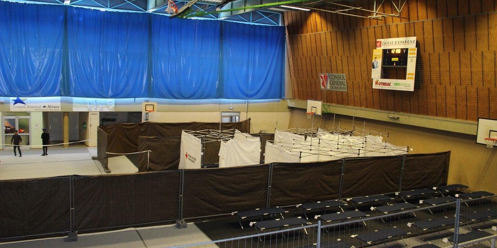 Un gymnase à nouveau ouvert pour les sans abri pendant la vague de froid