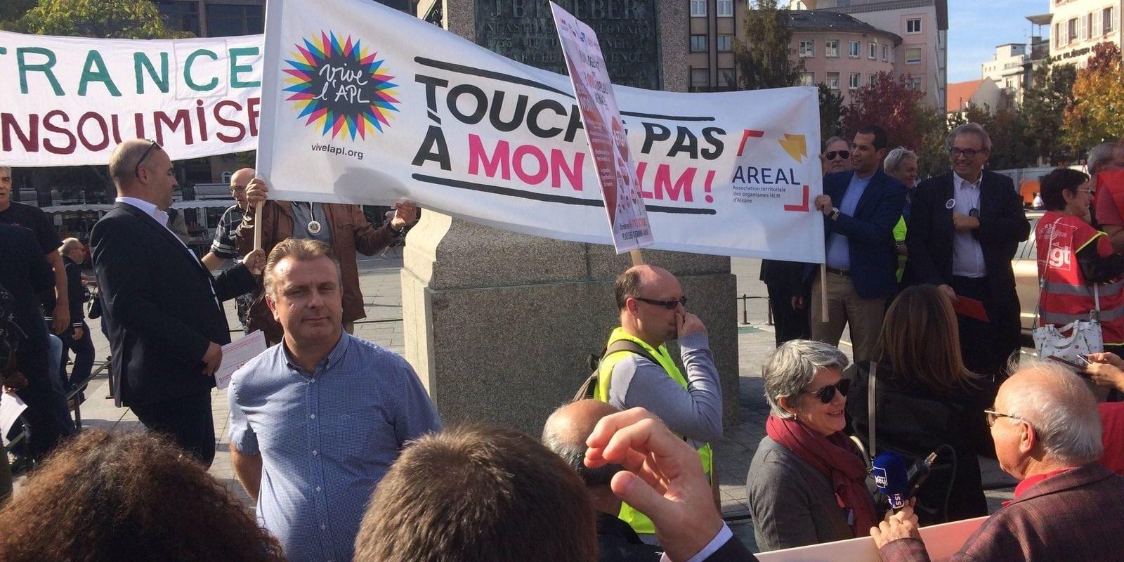 Un front bigarré pro-APL et anti-Macron est parti de Strasbourg