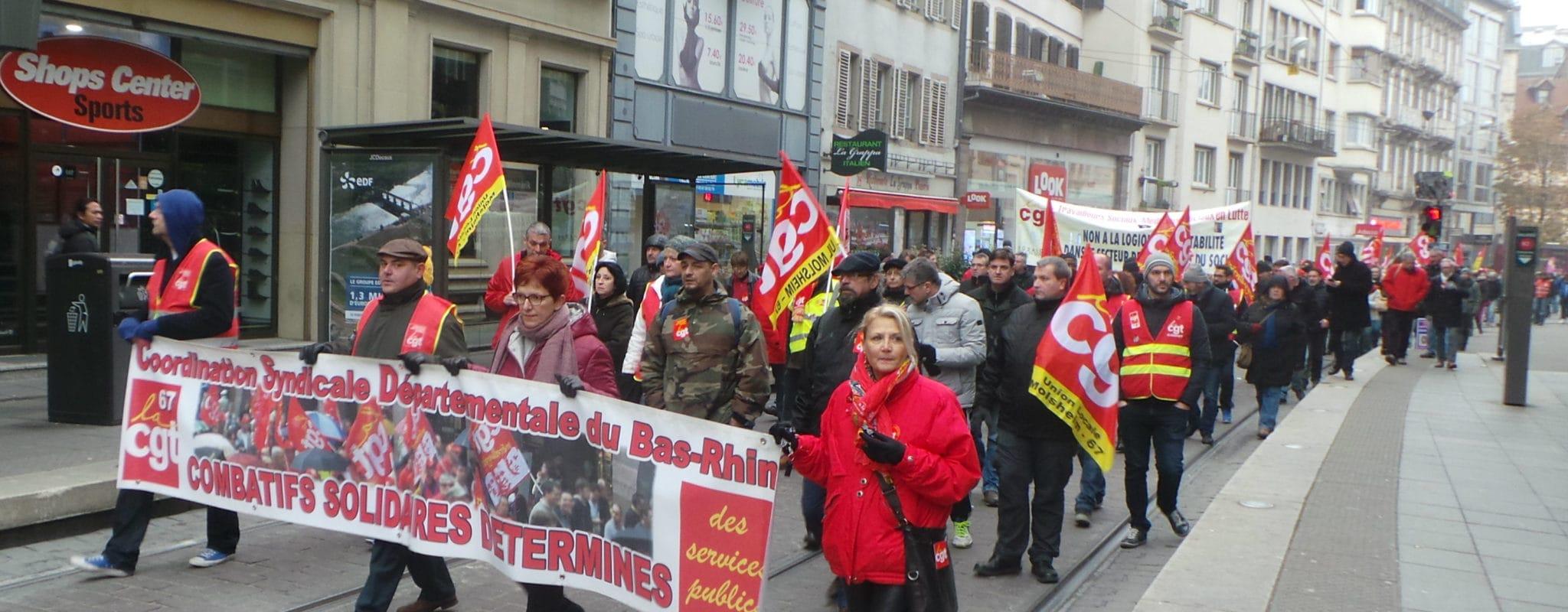 Manifestation «en défense du secteur public» dans le centre-ville jeudi