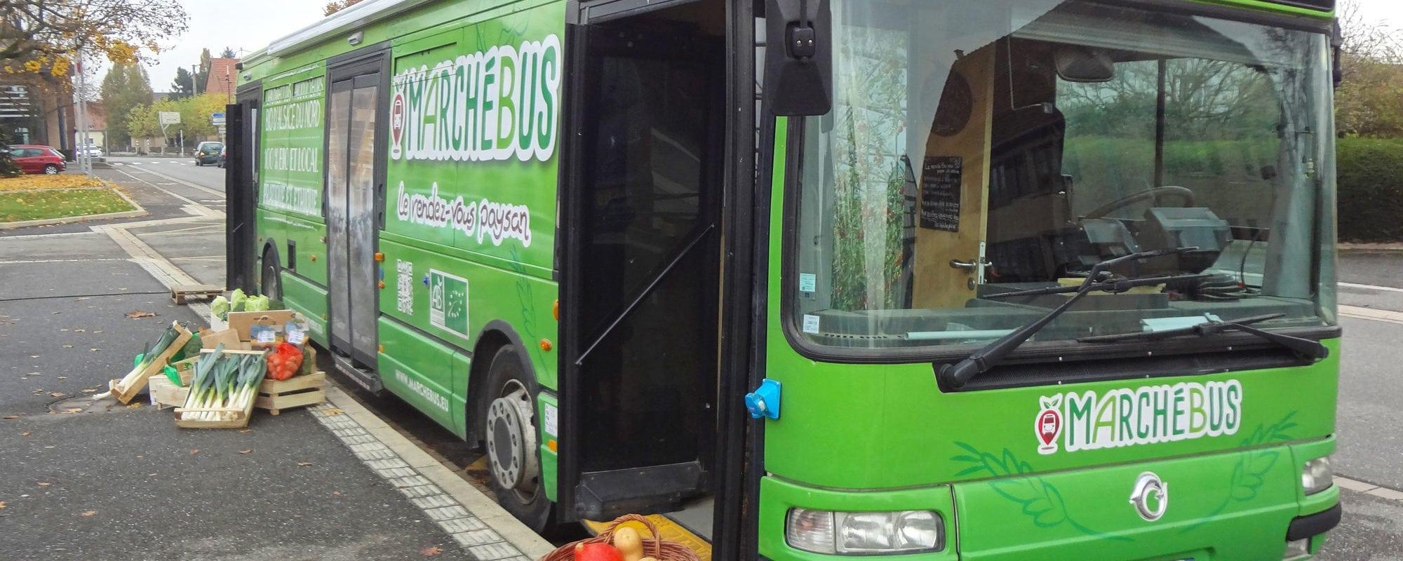 Le Marchébus, une fragile épicerie ambulante et bio en Alsace du Nord
