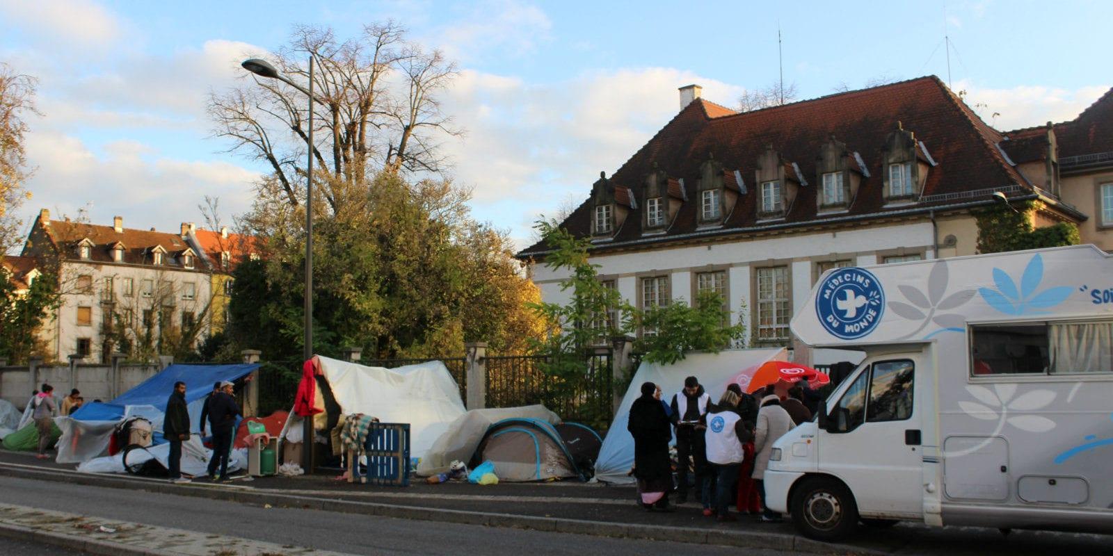 Un nouveau bidonville de demandeurs d'asile, cette fois au Neuhof