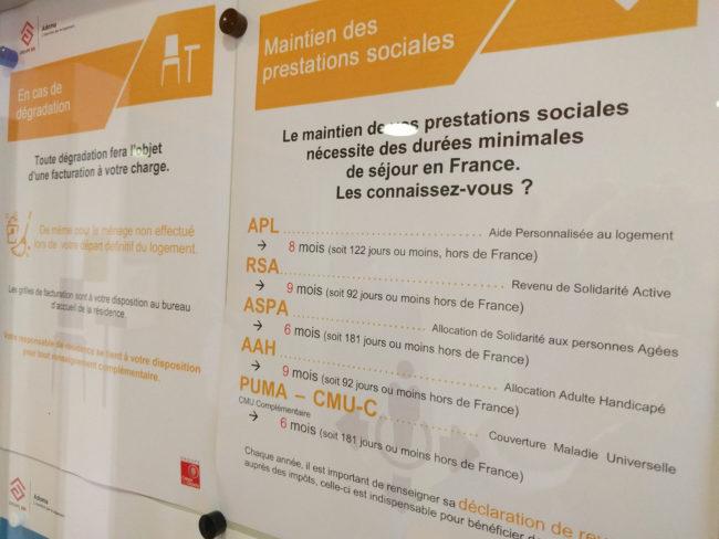 Adoma affiche les obligations de résidence dans l'entrée et estime suffisant son rôle d'information (Photo PF / Rue89 Strasbourg / cc)