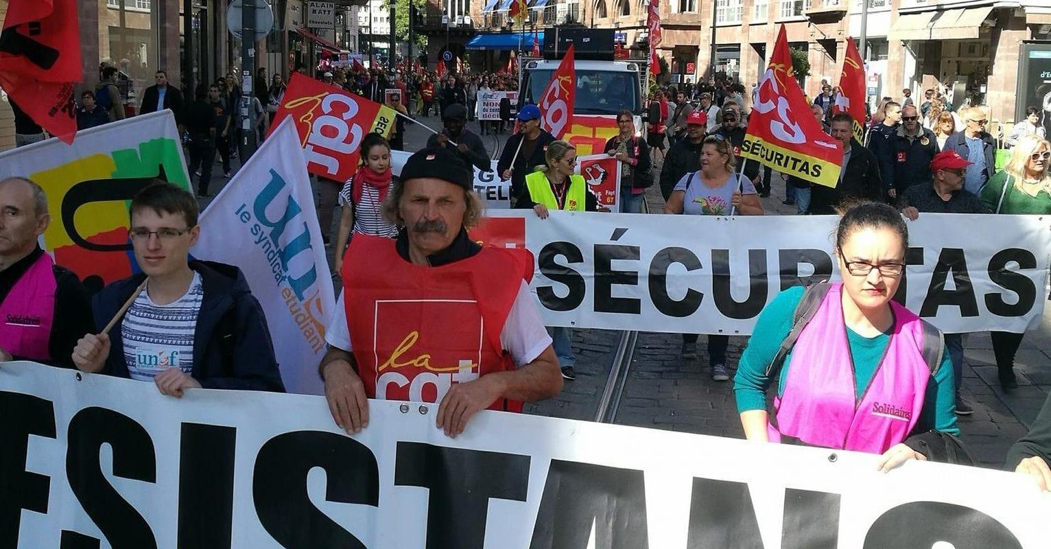 Manifestation jeudi à Strasbourg «contre la politique libérale du gouvernement»