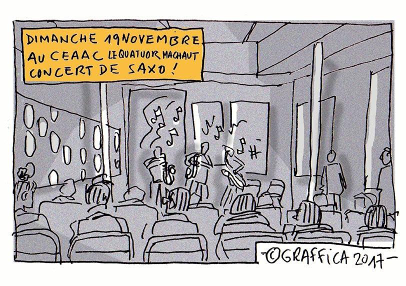 Un dimanche après-midi à Jazzdor, un concert de saxo au Ceaac