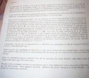 """La réponse du Département à une demande de prise en charge d'un des jeunes. Toutes des """"copié-collé"""", d'après le père Thomas. (Photo DL / Rue 89 Strasbourg / cc)"""