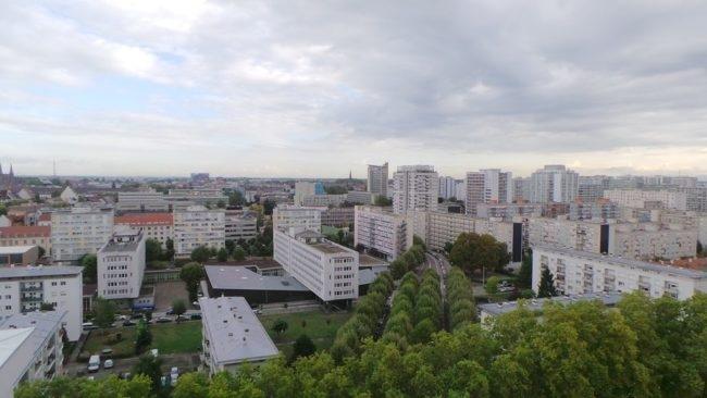 L'Esplanade est apparue au début des années 60, sa construction a été confiée à la SERS et la gestion des espaces extérieurs à l'ASERE. (Photo JFG / Rue 89 Strasbourg /cc)