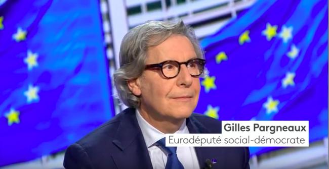 """L'initiative d'un groupe de soutien à Emmanuel Macron du député européen Gilles Pargneaux fait un """"flop"""". (Capture d'écran)"""